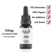 Nuleaf Naturals 725mg Full Spectrum CBD Oil, High Grade Hemp Extract (50mg/ml)